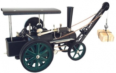 Wilesco D 405/1 Dampftraktor mit Kran Fabrikneu
