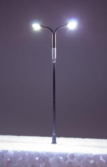 5x Straßenlampe LED 12V Metall 2-fach kaltweiß mit Widerstände in N Neu