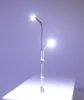 3x Straßenlampe Peitschenleuchte LED 12V Metall  2-fach abgestuft in N Neu