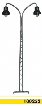 Beli-Beco 100252 Gittermastlampe 2-fach H0 Höhe 140 mm Fabrikneu