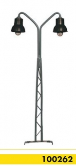 Beli-Beco 100262 Gittermastlampe 2-fach H0 Höhe 110 mm Fabrikneu