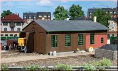 Auhagen 11332 Lokschuppen zweiständig in H0 Bausatz Fabrikneu