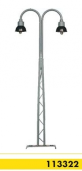Beli-Beco 113322 Gittermastlampe 2-fach Spur H0 Höhe 110 mm Fabrikneu