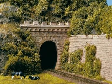 Auhagen 11342 2 Tunnelportale eingleisig in H0 Bausatz