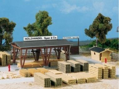 Auhagen 11353 Holzhandel Span & Co. H0 Bausatz