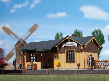Auhagen 11357 Kleiner Haltepunkt Holzmühle in H0 Bausatz