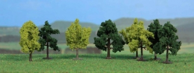 Heki 1140 Laubbäume 8 Stück 4 cm für Spur Z Fabrikneu