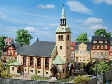Auhagen 12229 Kirche Börnichen in H0/TT Bausatz Fabrikneu