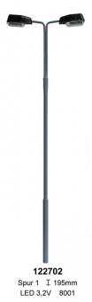 Beli-Beco 122702 Straßenlampe doppelt mit Stecksockel SMD 1 Höhe 195mm Fabrikneu