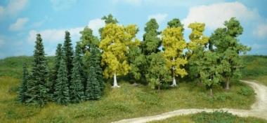 Heki 1230 Mischwald Bäume und Tannen 26 Stück 5 - 11 cm Neuware