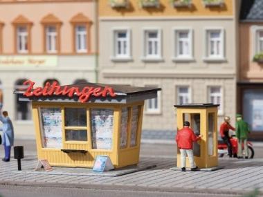 Auhagen 12340 Zeitungskiosk mit Telefonzelle in H0/TT Bausatz