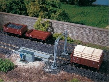 Auhagen 13313 Gleiswaage mit Lademaß in TT Bausatz