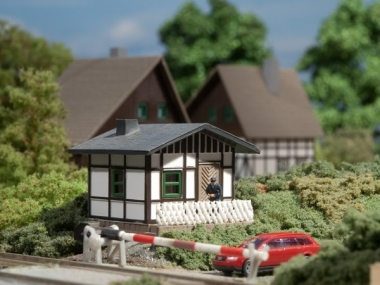 Auhagen 14455 Schrankenwärterhaus in N Bausatz Fabrikneu