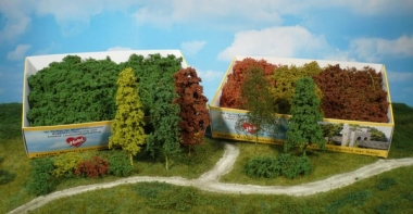 Heki 1630 Laubbäume und Büsche, natur 15 Stück Neuware