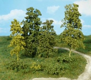 Heki 1670 kreativ Blätterbäume und Büsche hellgrün, 15 Stück Fabrikneu