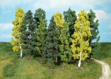Heki 1762 Bäume 10 Stück 14 - 18 cm für H0/TT Fabrikneu