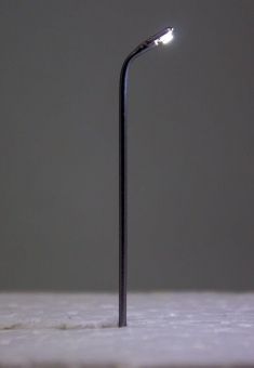 5x Straßenlampe Peitschenleuchte LED 12V kaltweiss Metall 1-fach in Z Neu