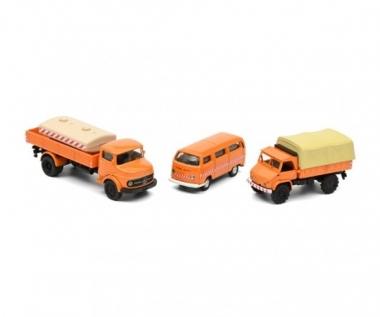 Schuco 452655600 Kommunal MHI Set 3-teilig H0 1:87 Fabrikneu