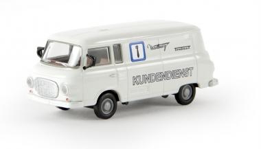 Brekina 30116 Barkas B 1000 Kasten Wartburg Trabant Kundendienst TD H0 Fabrikneu