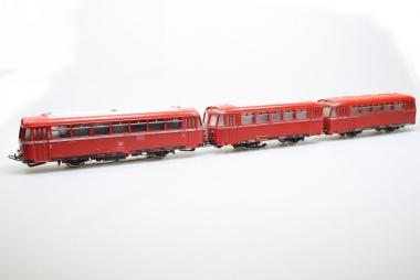 Märklin 3016 Schienenbus Br. 795 299-7 mit 2 Beiwagen der DB