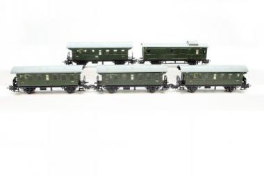 Märklin 4002 und 4003 5x Personenwagen Bi Wagenset der DB