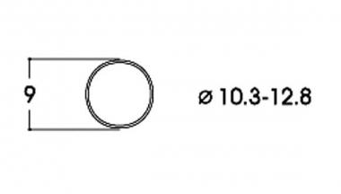 Roco 40069 10x Haftreifen DC 10,3-12,8 mm H0 Ersatzteil Fabrikneu