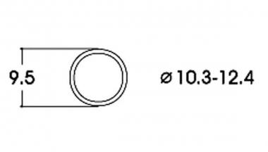 Roco 40074 10x Haftreifen AC 10,3-12,4 mm H0 Neuware