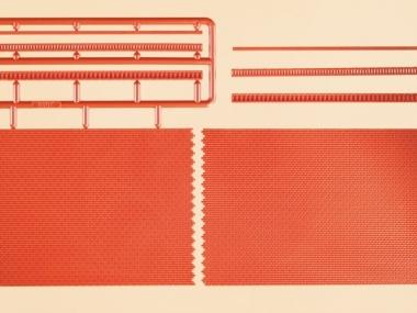 Auhagen 41205 2x Ziegelmauern mit Zahnfriesvarianten in H0 Bausatz
