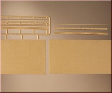 Auhagen 41207 Ziegelmauern mit Zahnfriesvarianten gelb in H0 NEUWARE