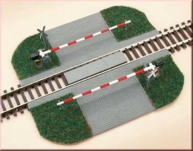Auhagen 41582 Beschrankter Bahnübergang gerade in H0 Bausatz