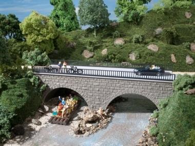 Auhagen 41589 Kleine Straßenbrücke in H0/TT Bausatz Fabrikneu