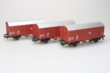 Märklin 4410 3x gedeckter Güterwagen Gs 210 120 6 086-1 der DB Top Zustand