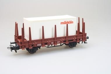 Märklin 44591 Rungenwagen Kls 443 mit Container H0 unbespielt in OVP