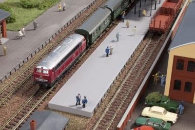 Auhagen 44641 Bahnsteig ohne Überdachung in N Bausatz
