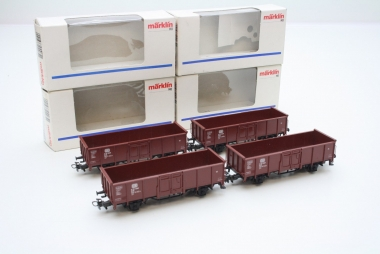 Märklin 4465 4x offener Güterwagen E 040 DB Top Zustand in Originalverpackung