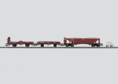 Märklin 47901 Wagen-Set Gleisbauzug m. Draisine unbespielt in Originalverpackung