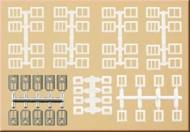 Auhagen 48654 Fenster und Türen für Industriegebäude in N Bausatz