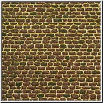 Auhagen 50102 50502 Pappe Mauer unregelmäßig in H0/TT Fabrikneu
