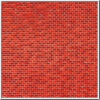 Auhagen 50104 50504 Pappe Ziegelmauer rot in H0/TT Fabrikneu