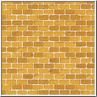 Auhagen 50110 50510 5x Pappe Ziegelmauer ocker in H0/TT NEUWARE