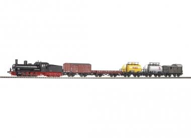 Piko 57120 Startset Güterzug Dampflok G7 mit 5 Güterwagen in H0 Farbrikneu