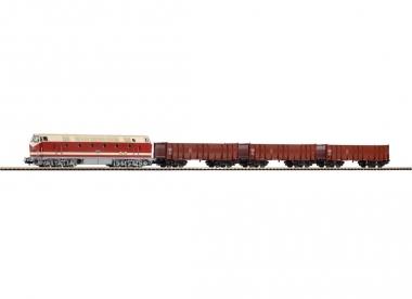 Piko 57136 Startset Dieselok 119 mit 3 Hochbordwagen in H0 Fabrikneu