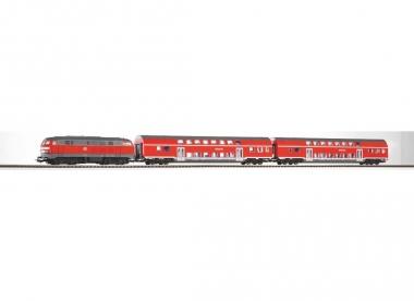 Piko 57150 Startset Dieselok 218 mit 2 Doppelstockwagen DB Regio in H0 Fabrikneu