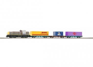 Piko 59111 Startset Diesellok G 1700 BB mit 3 Containertragwagen H0 Fabrikneu