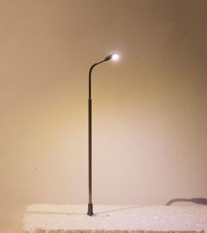 3x Straßenlampe LED 12V Metall 1-fach kaltweiß in H0 Neu