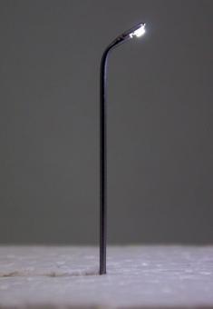 3x Straßenlampe Peitschenleuchte LED 12V kaltweiss Metall 1-fach in Z Neu