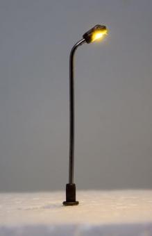 3x Straßenlampe Peitschenleuchte LED 12V warmweiss Metall 1-fach in Z Neu