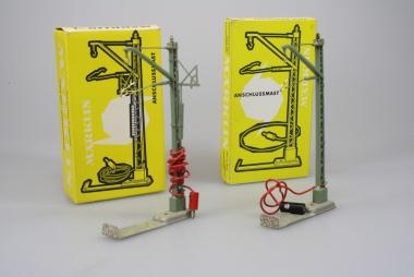 Märklin 7010 und 7012 Oberleitung Anschlußmast für M-Gleis in Originalverpackung