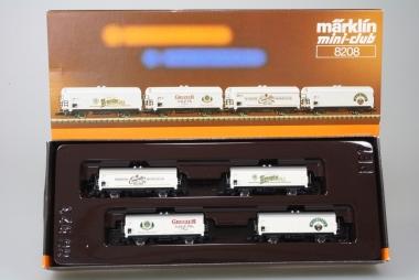 Märklin 8208 Miniclub Bierwagenset 4-teilig unbespielt in Originalverpackung