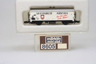 Märklin 8602 Miniclub Refrigerated car Spatenbräu München DB boxed